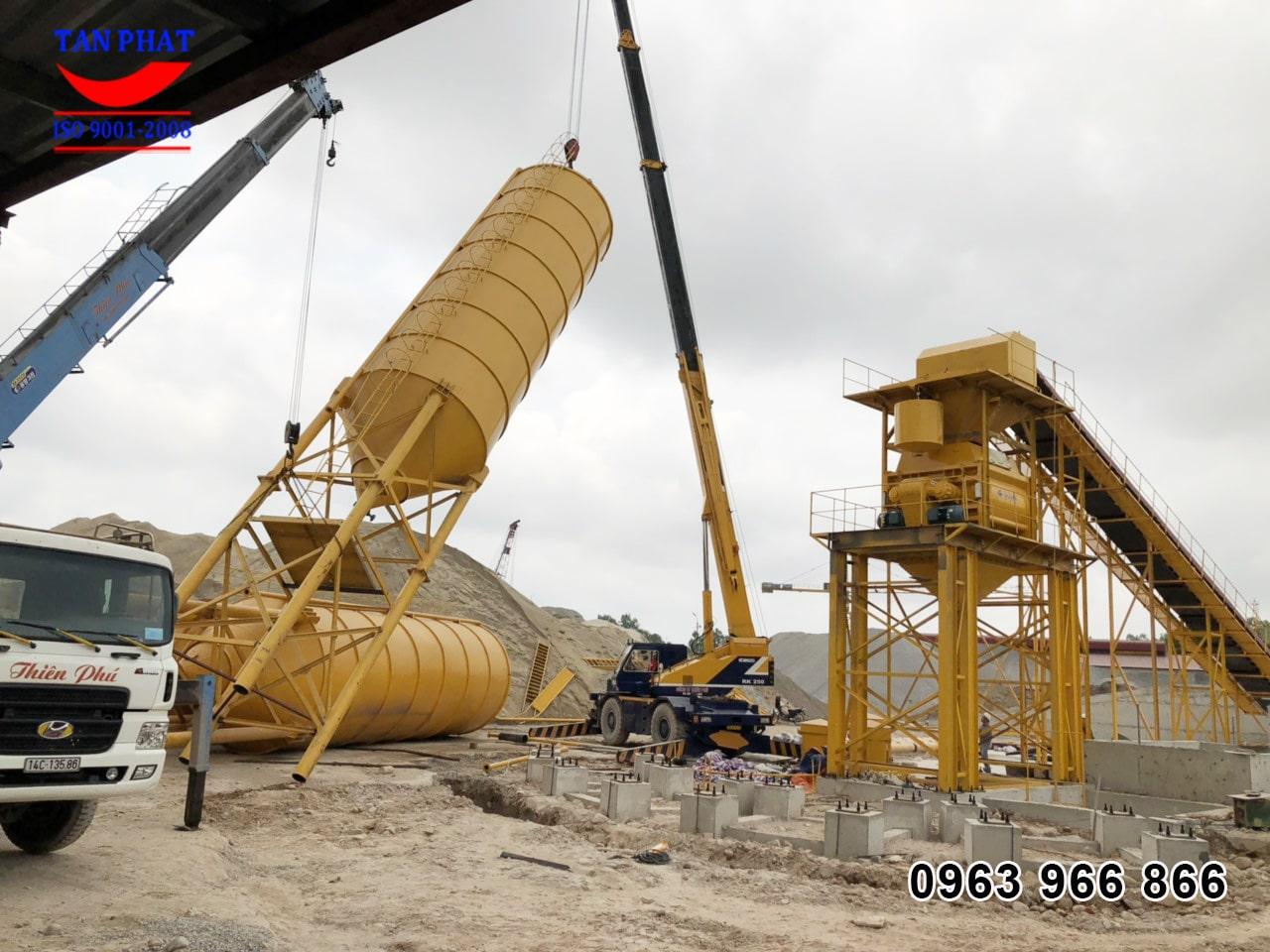 Lắp đặt trạm trộn bê tông 120m3/h