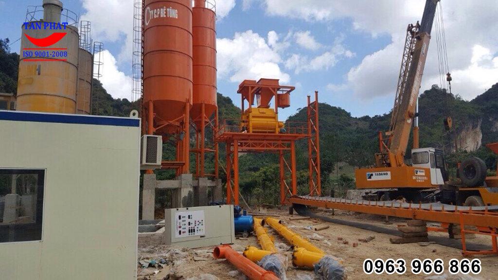 xây dựng trạm trộn bê tông 120m3