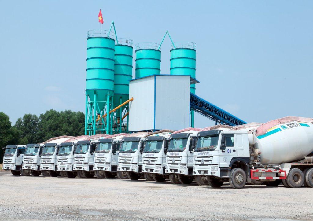 nhà máy trạm trộn bê tông công ty Việt Cường
