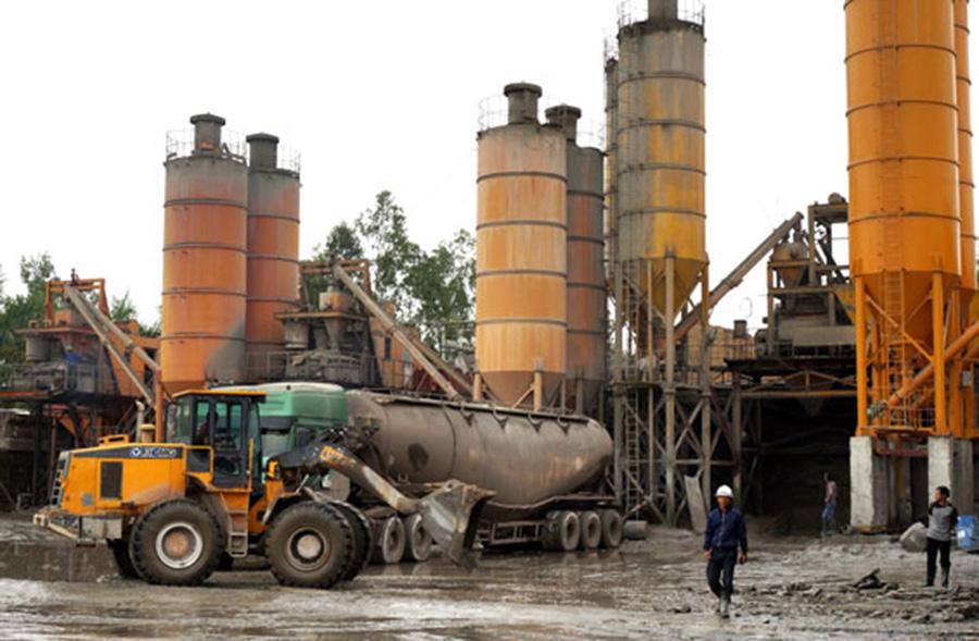 trạm trộn bê tông công ty xây dựng Thái Nguyên