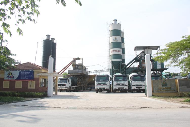 trạm trộn bê tông A&P Bắc Ninh